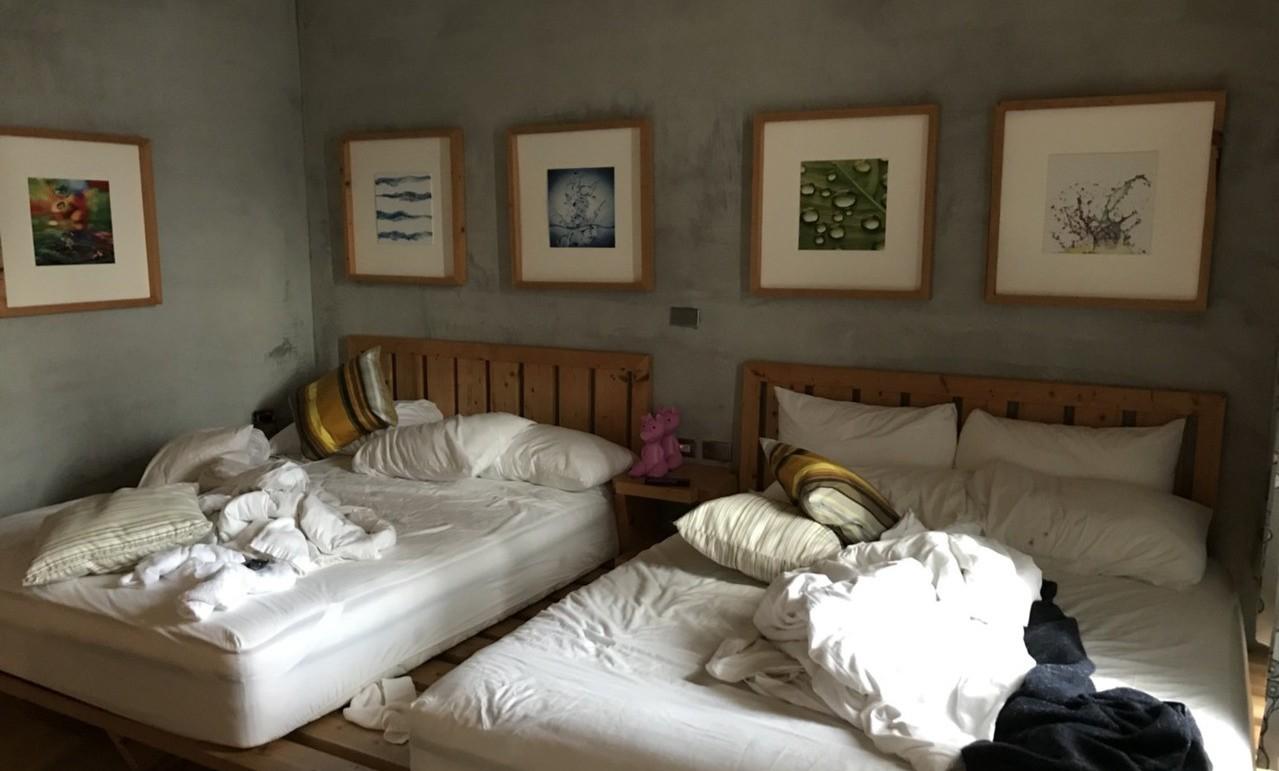 四人房原價2880,但由於用Airbnb介紹者優惠訂購所以省下1100元,一天只...