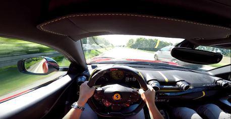 (狂飆片)你的名字?我叫超級快 Ferrari 812 Superfast無限速公路狂飆
