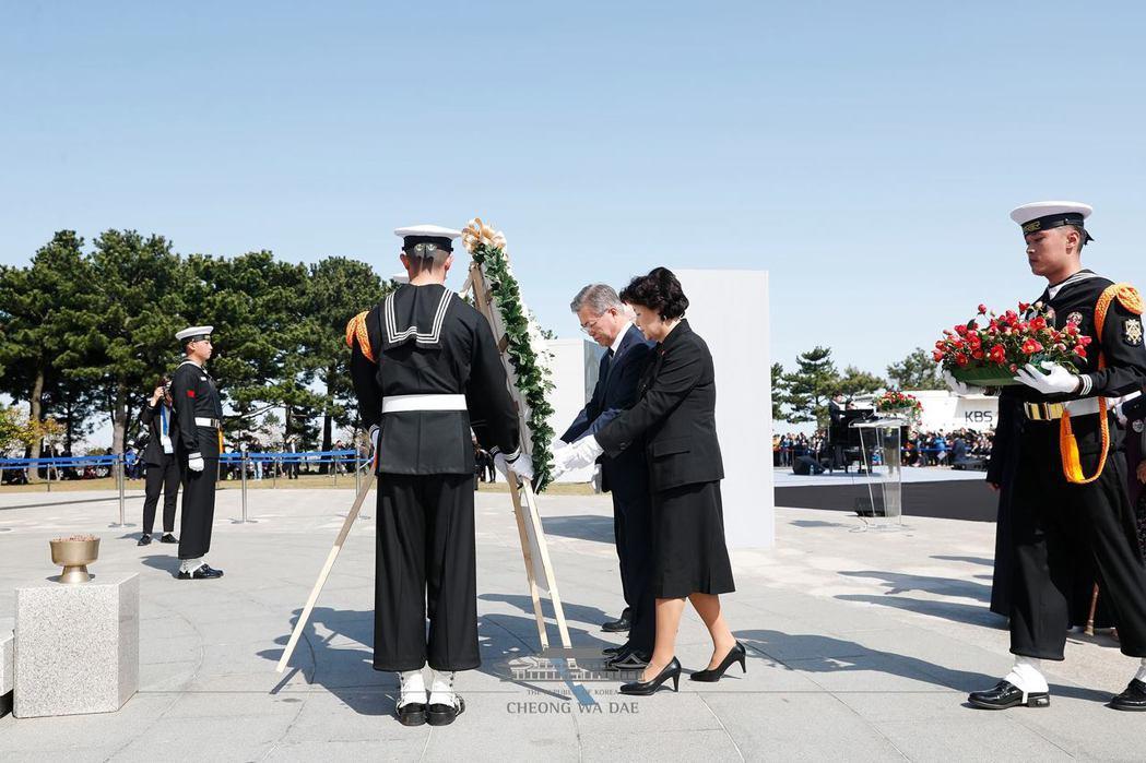 2018年4月,文在寅總統出席濟州四三事件70週年紀念儀式。 圖/青瓦台