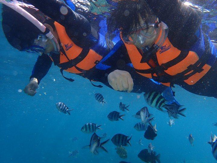 藍洞浮潛。 圖/背包客棧