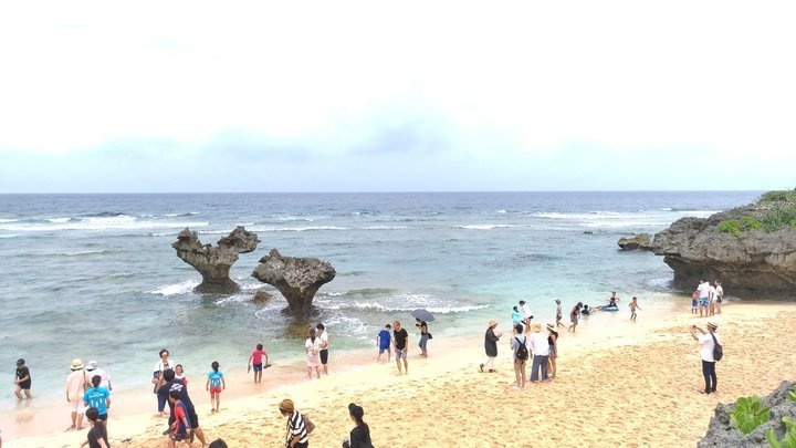 古宇利島-雙心岩。 圖/背包客棧