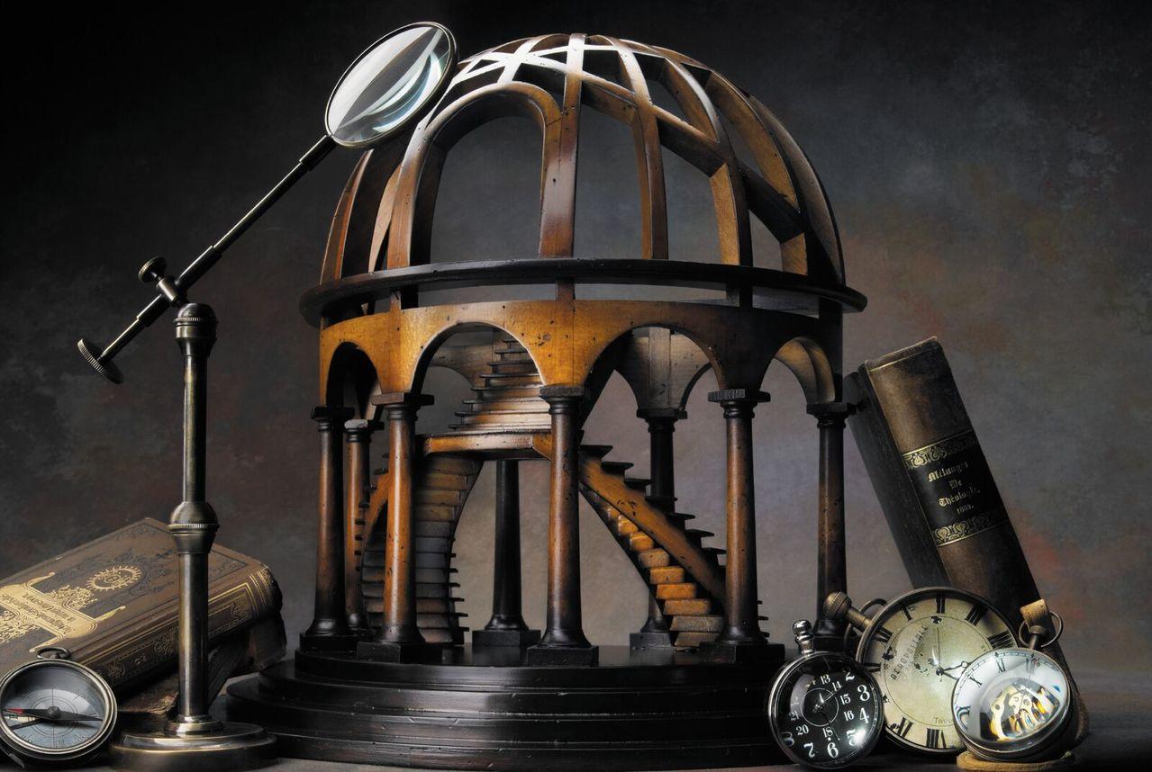 歐瑟蒂克半圓頂劇場木製模型售價15,900元。即使變成最小的建築模型,仍要保有原...