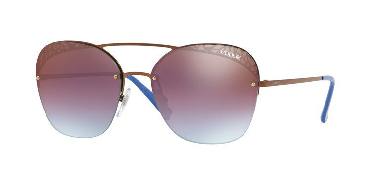 Vogue Eyewear金屬蕾絲系列太陽眼鏡,約6,500元。圖/Luxott...