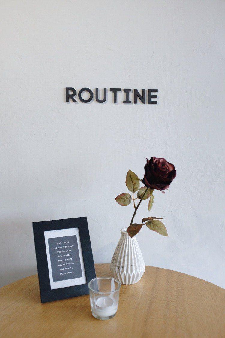 「Routine;」小角落。圖/記者沈佩臻攝影