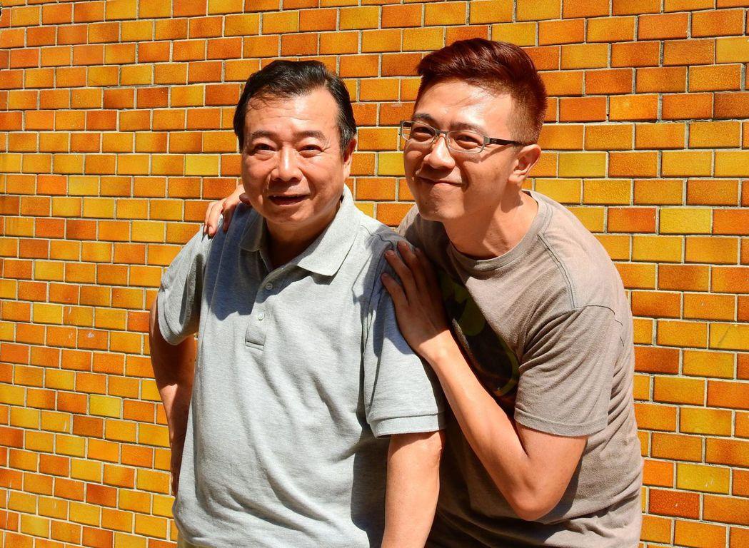 廖峻(左)與兒子廖錦德首度同台演父子。圖/台視提供
