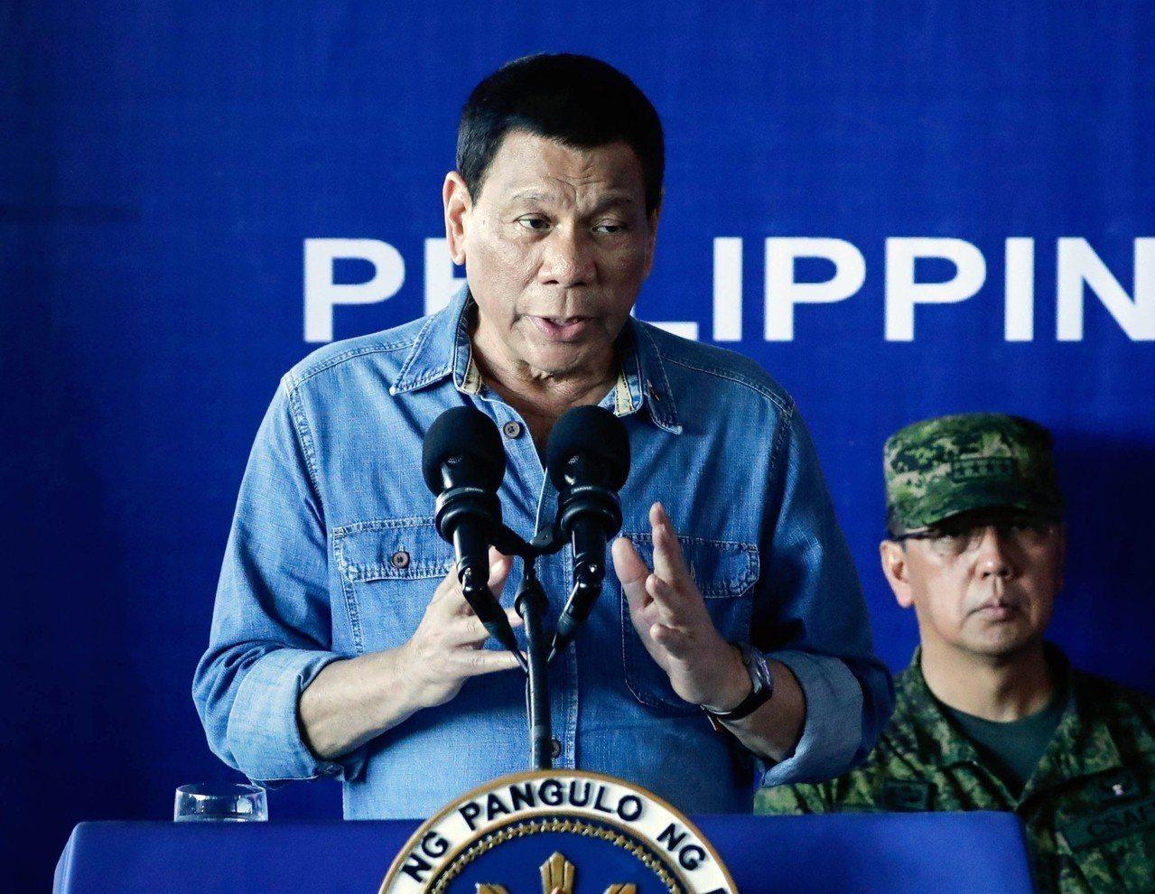 菲律賓總統杜特蒂(Rodrigo Duterte)。 歐新社