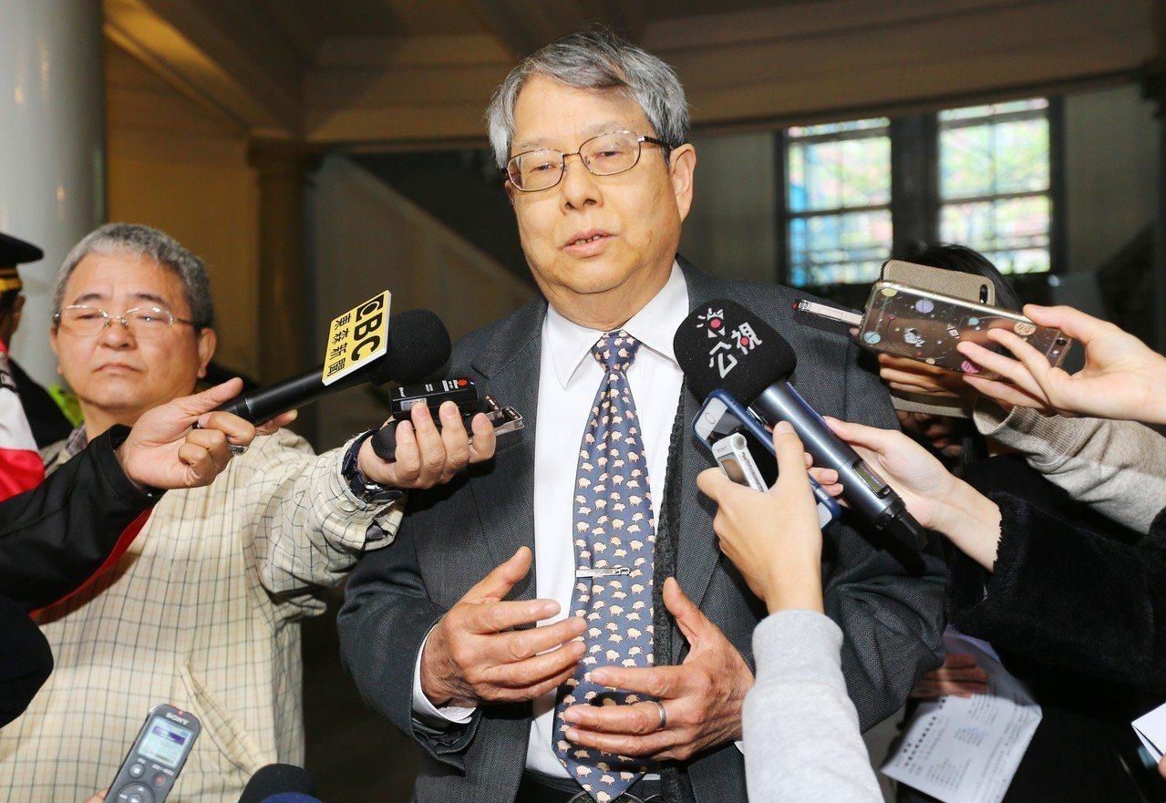 陳師孟3月時宣布,將調查馬英九在總統任內要求議處侯寬仁執行職務缺失一事。 圖/聯...