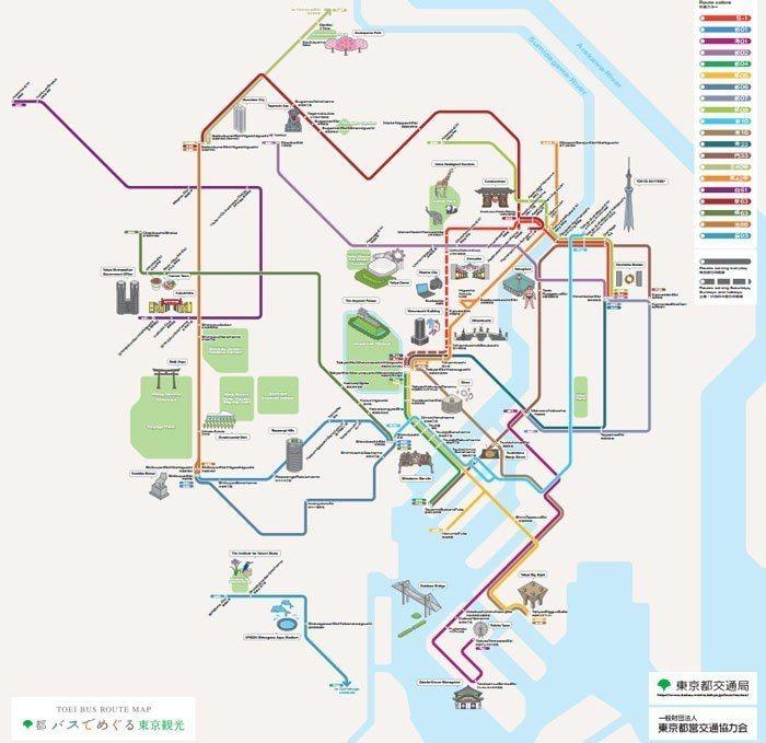 東京都巴士路線圖 東京都交通局官網