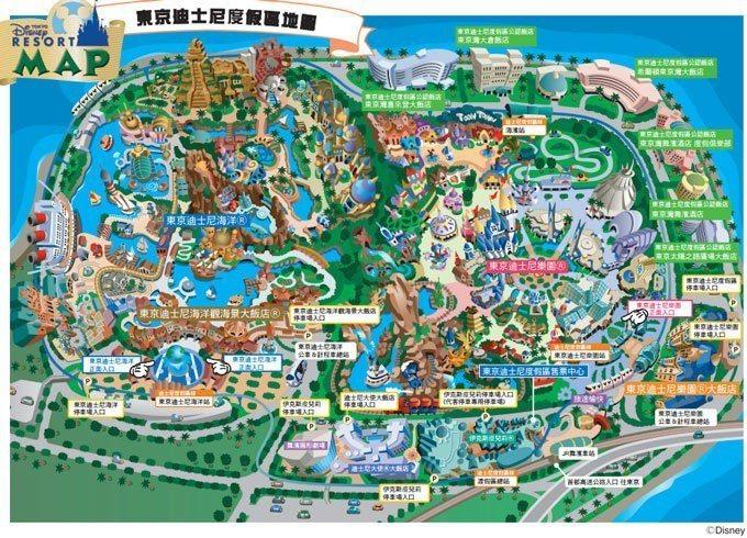 東京迪士尼地圖 官網