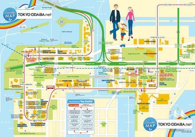 台場地圖 tokyo-odaiba