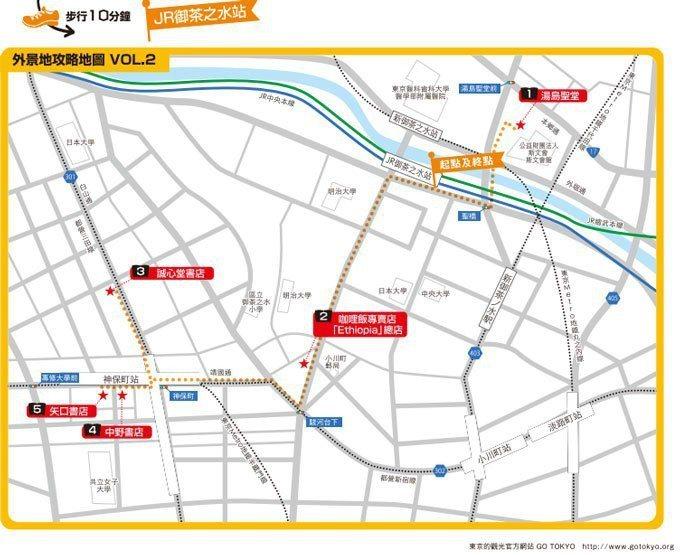 懷舊復古街道散步地圖 GO TOKYO