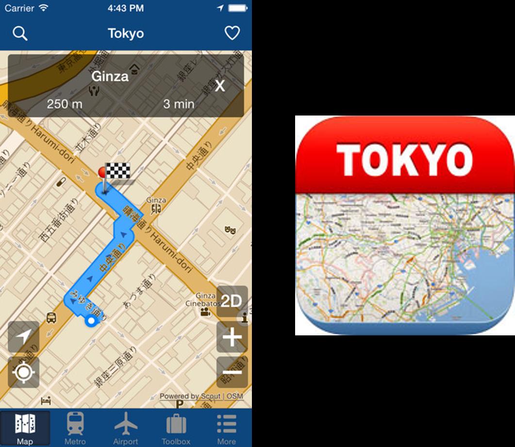 東京離線地圖 APP iTunes store