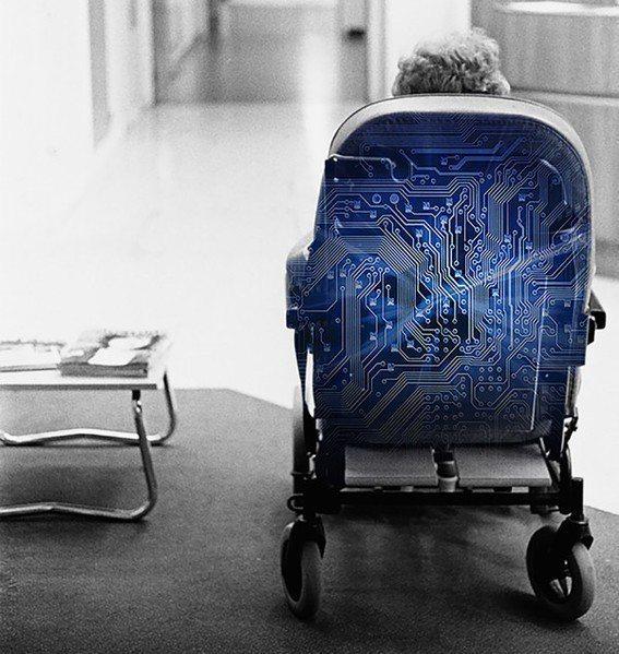 整合智慧紡織的智慧椅概念圖。(source: Fraunhofer Instit...