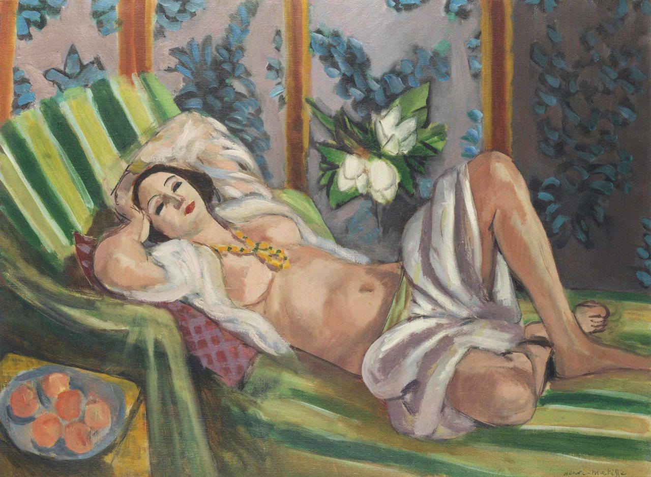 亨利·馬蒂斯《側臥的宮娥與玉蘭花》 成交價 USD 80,750,000