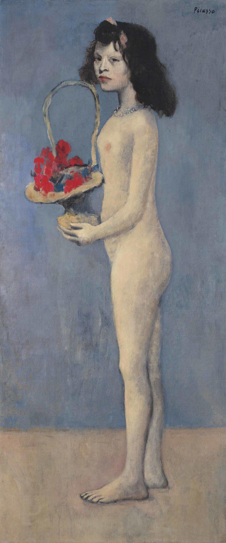 巴布羅·畢卡索《拿著花籃的女孩》 成交價 USD 115,000,000