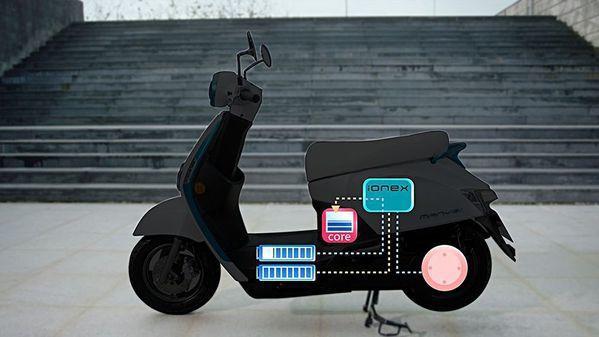 圖4 : 光陽IONEX將以充電機車為其核心產品(source: MCN)。
