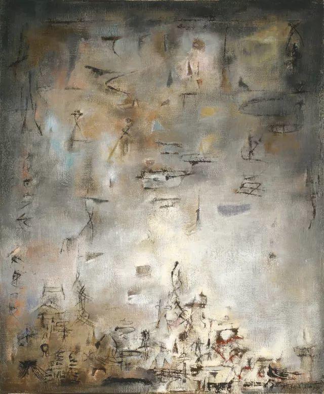 趙無極 雪花飛舞 油彩 畫布 73 x 60 cm. 1955年作 ...