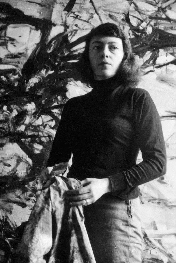 Joan Mitchell 瓊‧蜜雪兒其聖馬可廣場的工作室,1957年 攝影:R...
