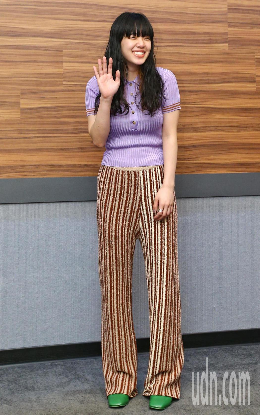 日本女歌手愛繆Aimyon來台宣傳,她將在六月到台灣舉辦第一場海外演唱會。記者王...