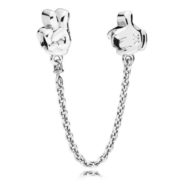 PANDORA X 迪士尼聯名系列米奇手套925銀安全鍊,2,580元。圖/PA...