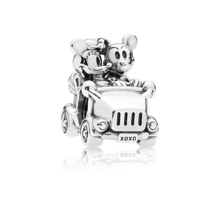 PANDORA X 迪士尼聯名系列米奇 米妮兜風串飾,1,880元。圖/PAND...