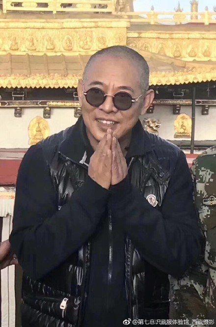 李連杰現身西藏。圖/摘自微博