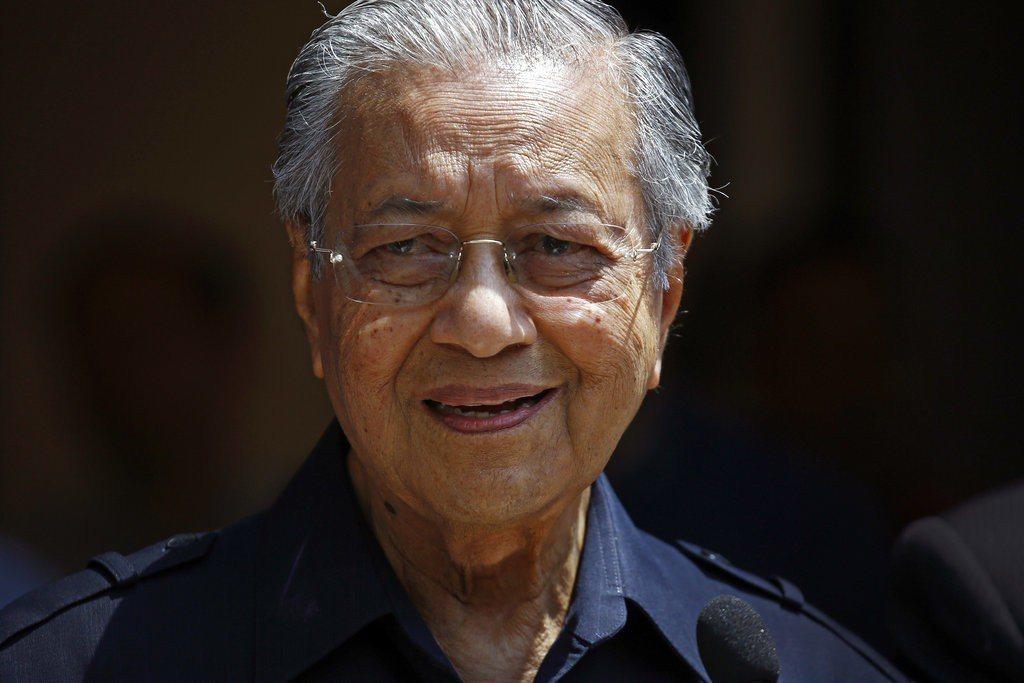 馬來西亞總理馬哈迪(Mahathir Mohamad)。美聯社