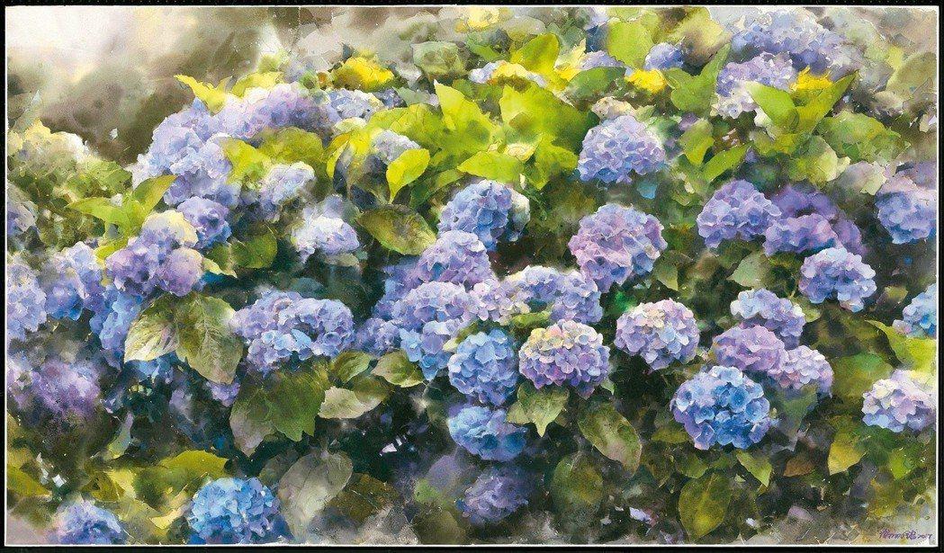 謝明錩水彩作品〈心靈花園〉