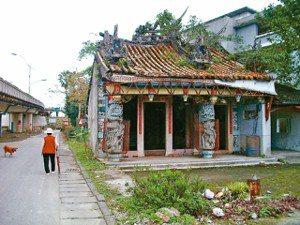 古公廟他遷留下的廢墟已被夷為平地。
