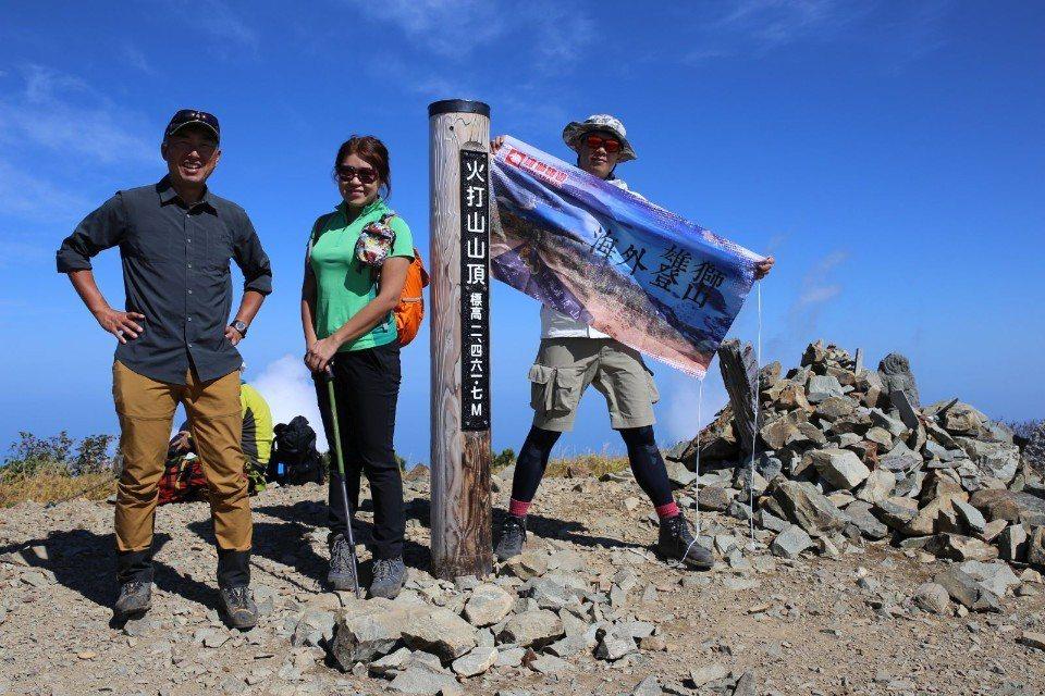 ▲火打山頂,標高2,461.7公尺。(Cliff 攝)