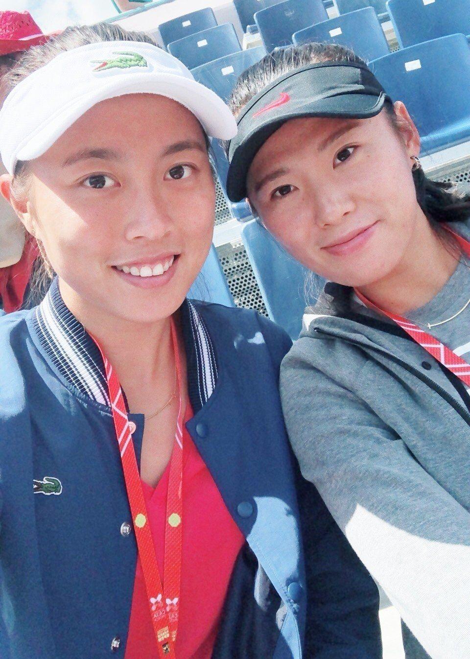 詹皓晴(左)和楊釗煊。 報系資料照(圖/劉雪貞提供)