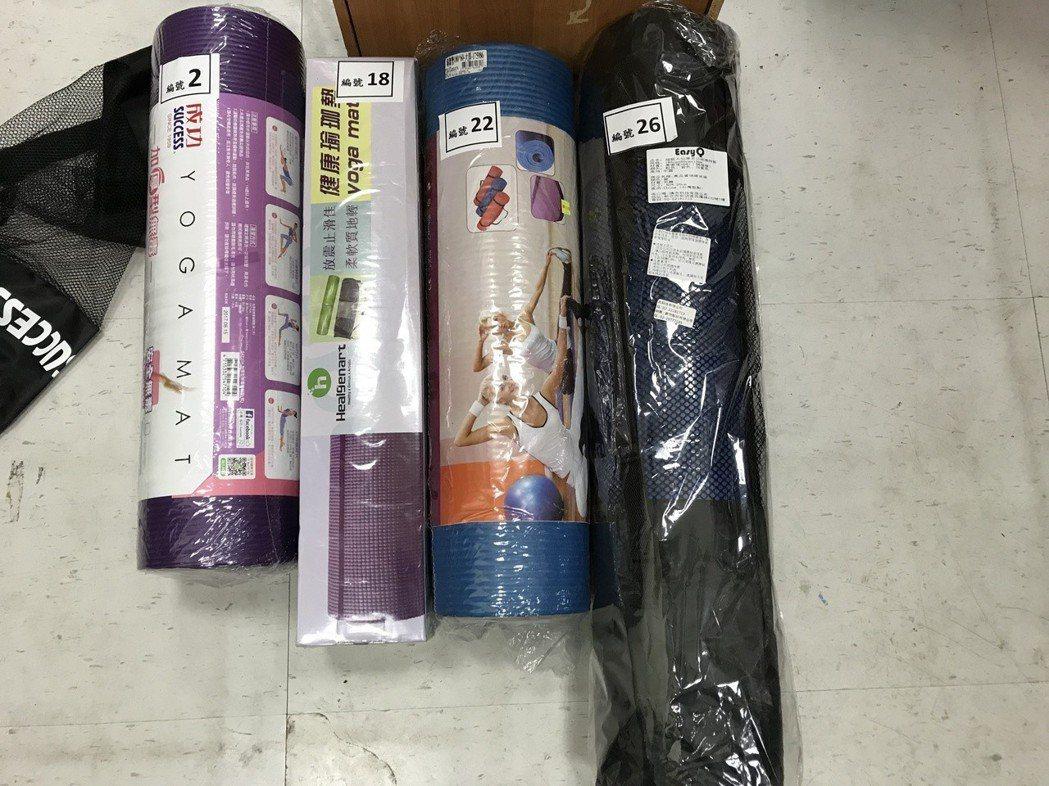 消保處今日公布市售「運動墊品質檢測及商品標示查核結果」,在品質檢測結果部份,有4...