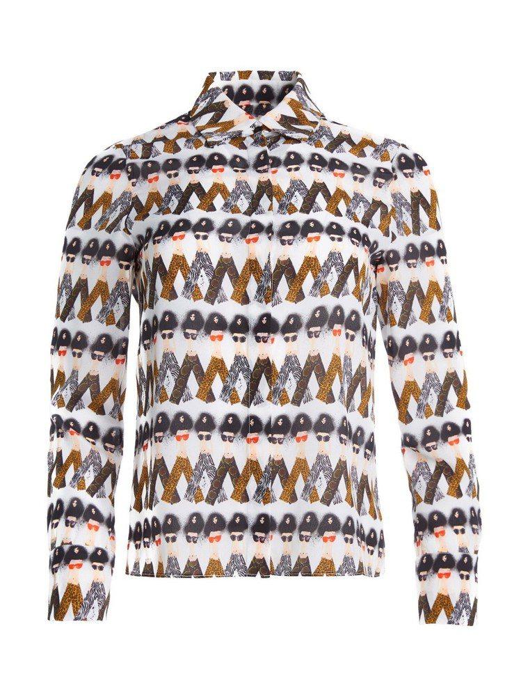 Stace人偶圖騰襯衫,13,900元。圖/alice+olivia提供