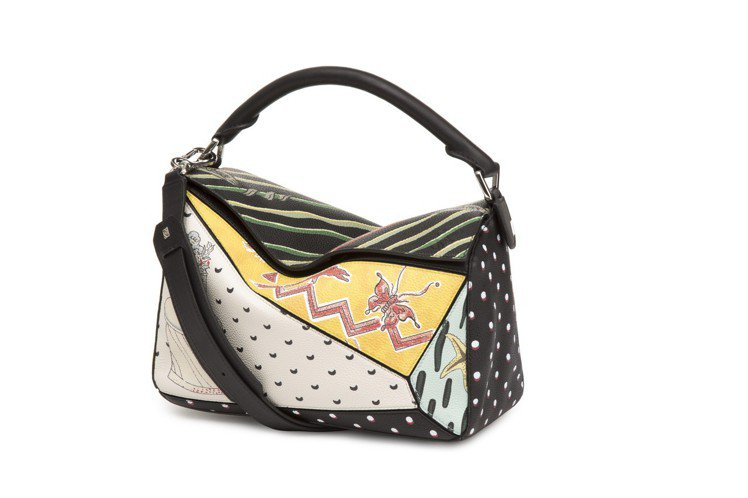 Paulas Ibiza Puzzle拼接手提包,售價10萬7,000元。圖/L...