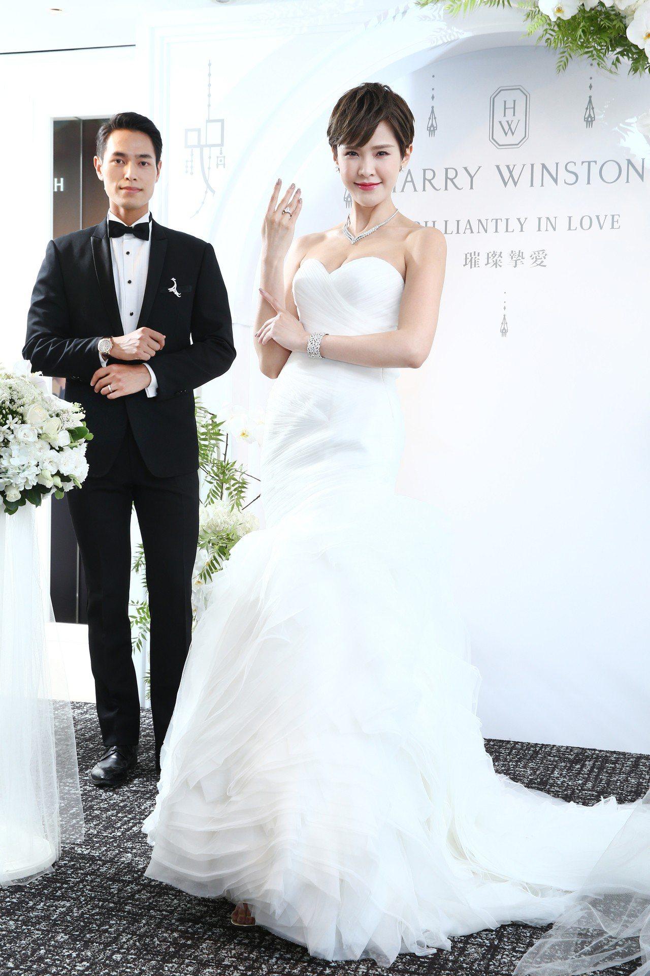 模特兒演繹海瑞溫斯頓Harry Winston婚禮珠寶系列。記者蘇健忠/攝影