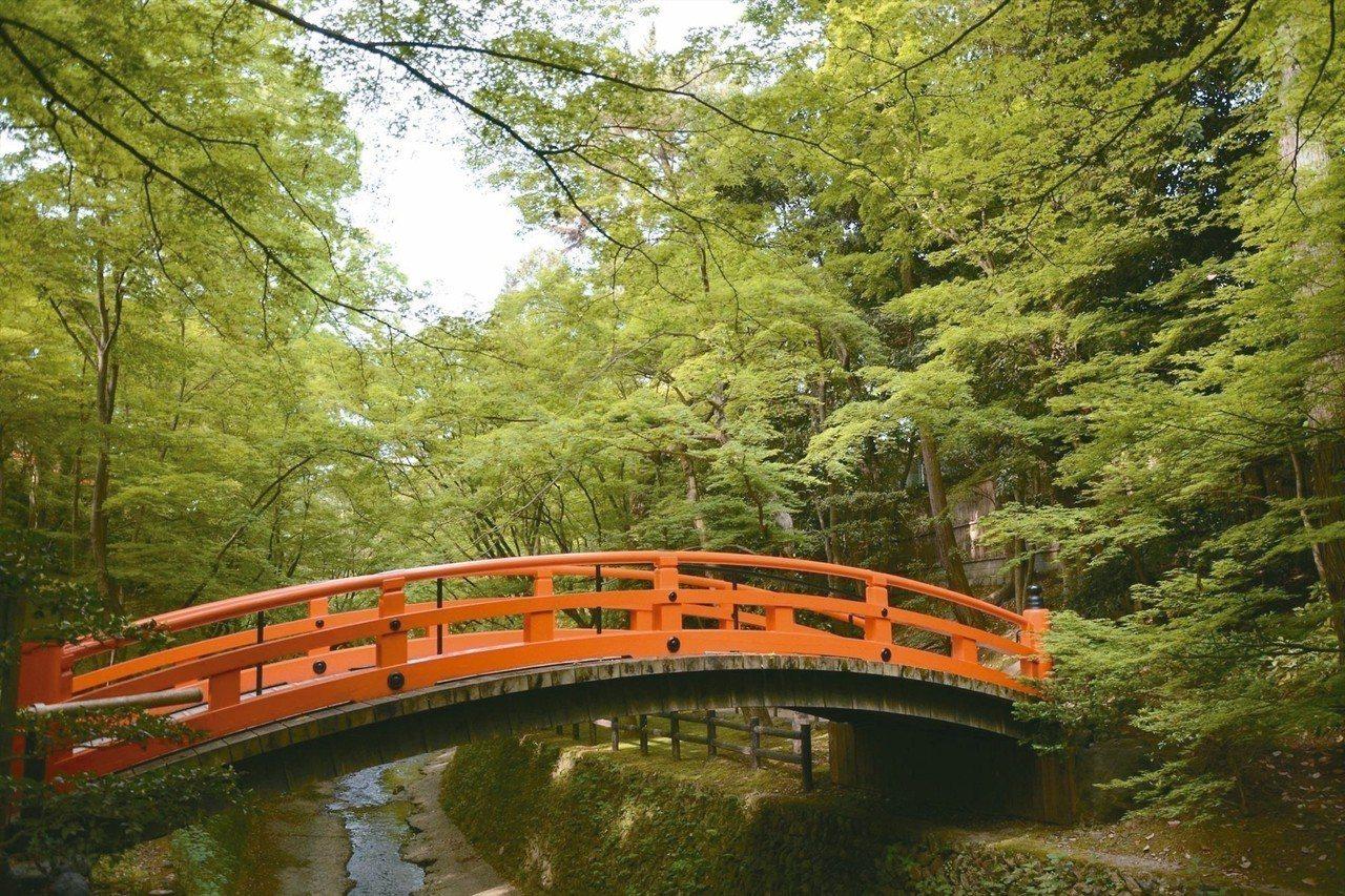 北野天滿宮的青楓景點,以「御土居」一帶最為著名。 圖/京都市台灣推廣事務所提供