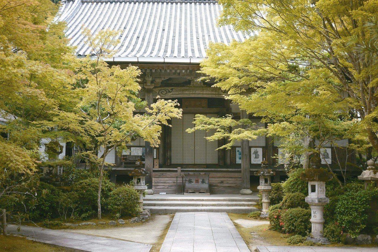 「西明寺」是京都人賞楓的私房景點。 圖/京都市台灣推廣事務所提供