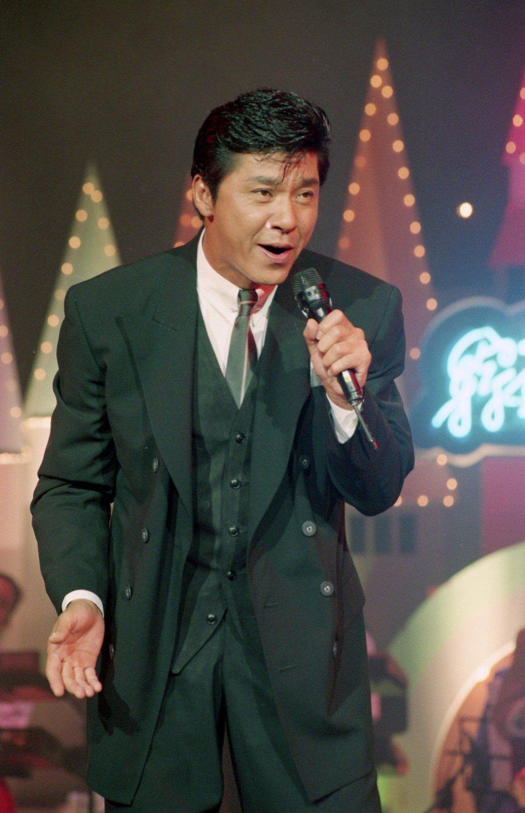 1994年西城秀樹來台參加綜藝節目錄影。 圖/聯合報系資料照