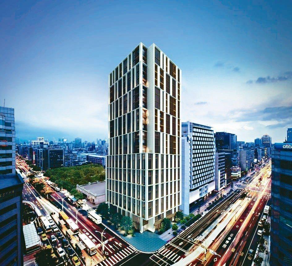 「琢豐」建築立面設計將重新定義台北市的精品建築。 業者/提供