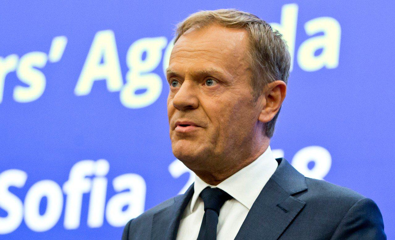 歐洲理事會主席圖斯克(Donald Tusk)。 美聯社
