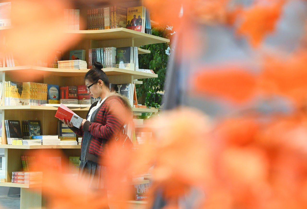 瀋陽綠色生態主題書店。 新華社照片