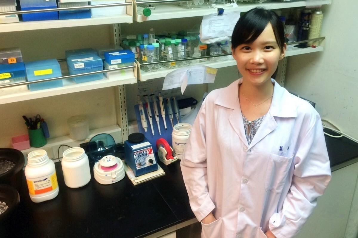 葉采衢在大學時加入蔡有光老師實驗室,並以乳癌研究獲科技部獎圖片來源/陽明大學官網