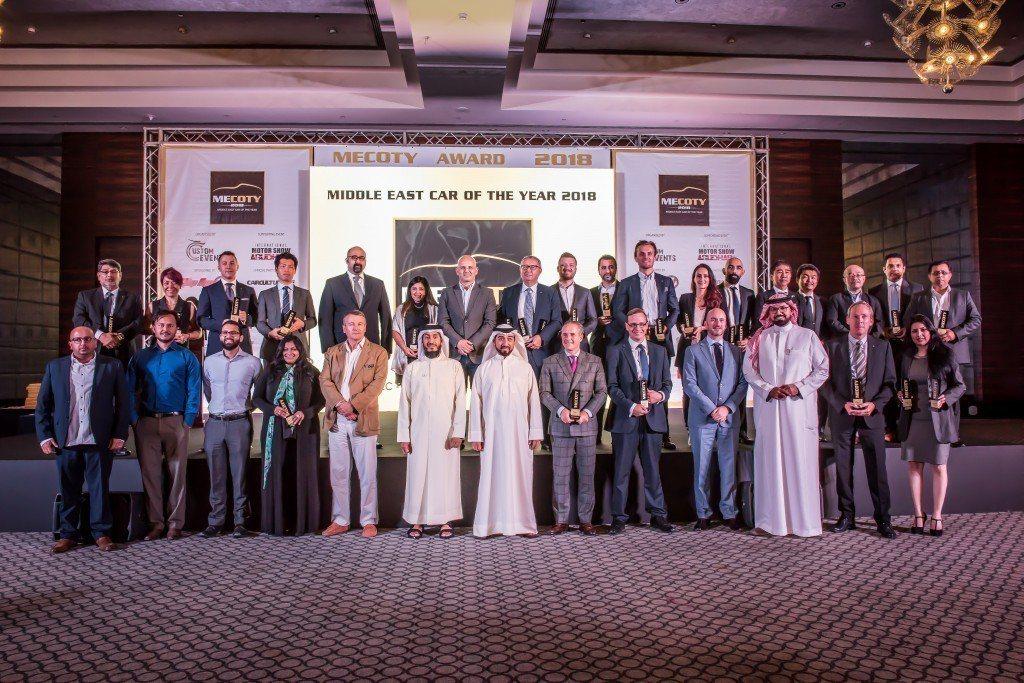 2018年度中東年度風雲車頒獎典禮於4月2日在阿布達比舉行。 圖/和泰汽車提供