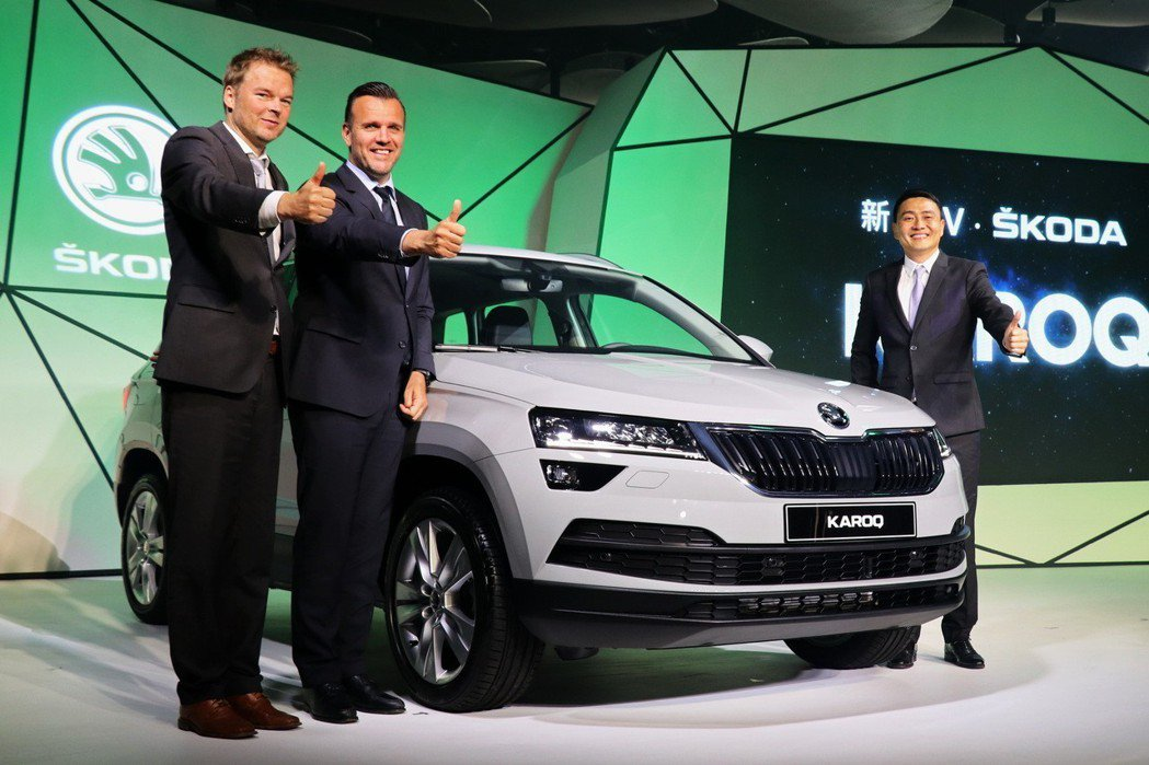 Škoda Taiwan導入中型SUV車款KAROQ,並以限時特惠106.9到119.9萬的售價,強力挑戰百萬級距休旅市場。 記者陳威任/攝影