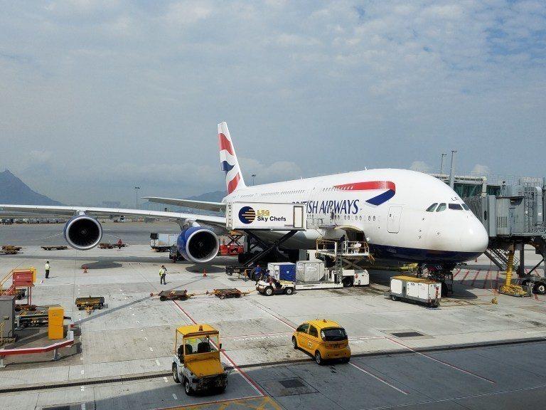 剛好進來的時候,看到一台英國航空的A380客機 圖文來自於:TripPlus