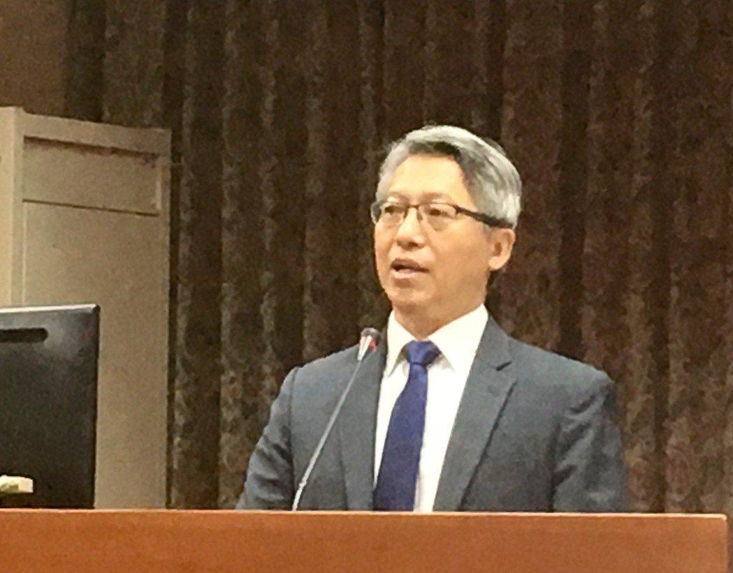 中研院長廖俊智今天在立法院教育委員會接受質詢。記者雷光涵/攝影