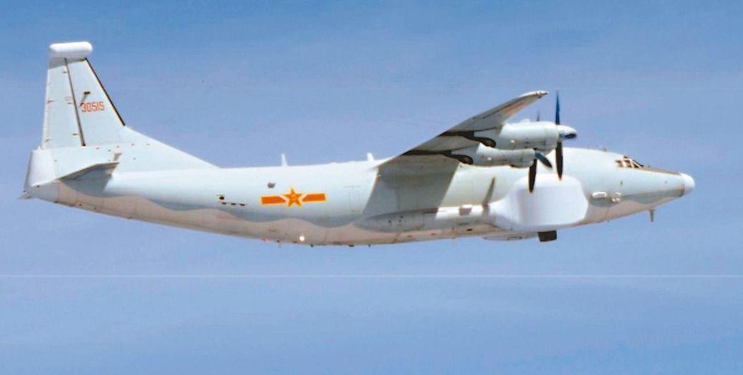中共運八電戰機。圖/翻攝自日本防衛省網站