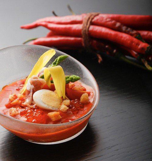 番茄冷湯。圖/TABLE by GastroJoy提供