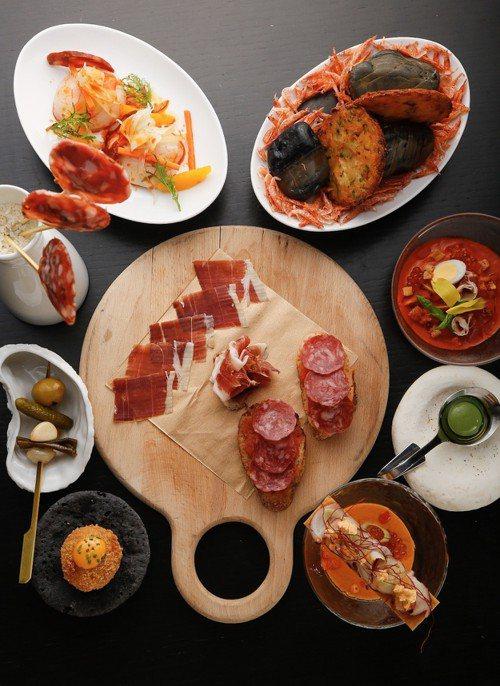 每一種價位都可以品嘗到Tapas開胃菜。圖/TABLE by GastroJoy...