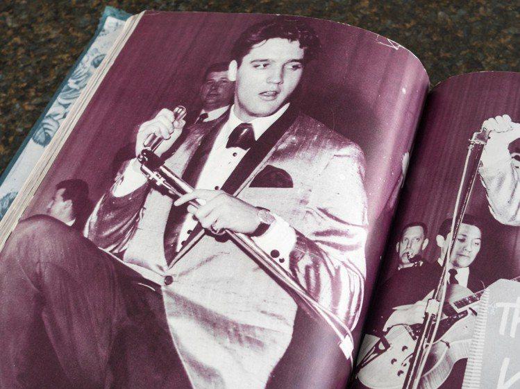 有照片為證,當年貓王在演唱會時就曾配戴18K白金鑲鑽歐米茄腕表。圖/OMEGA提...